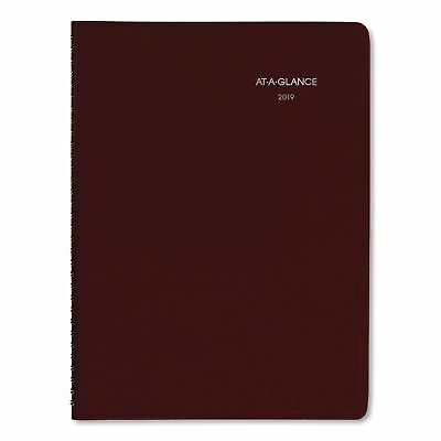 AT-A-GLANCE DayMinder Weekly Appointment Book, 8 x 11, Burgundy, 2019