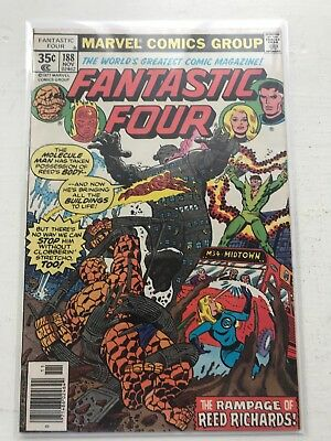 Lot Of 8 Vintage Fantastic Four Comic Books #188 & More