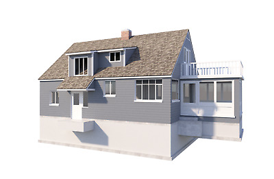 3 Bedroom Farmhouse w/ Sunroom Plans DIY Country House Home 1476 sq/ft