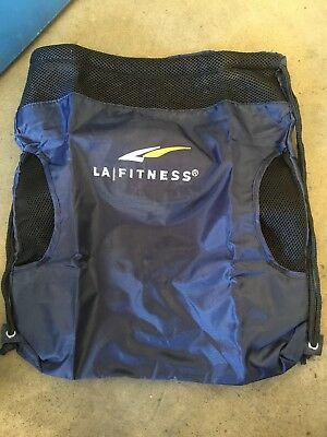 LA FITNESS Straw string Bag  Back Pack. Gift Christmas. Healthy