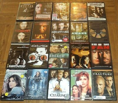 "ASSORTED ""THRILLER"" DVD COLLECTION - Lot of 20 - Hours of Thriller Movies on DVD"