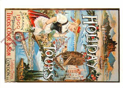 Picture Postcard- Thomas Cook Holiday Brochure Cover From 1900 (Repro)