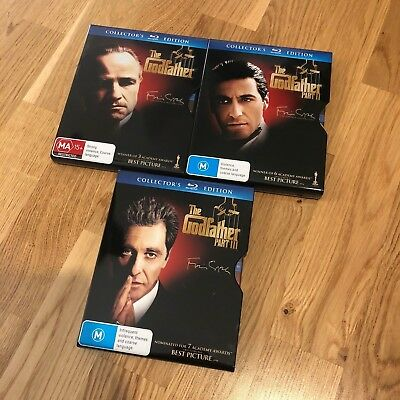 *** The Godfather 1-3 Blu-Ray STEELCASE (Steel Slip Case) COLLECTORS RARE ***