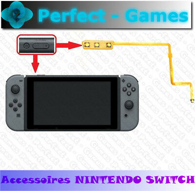 nappe touche bouton ON volume button power switch flex cable Nintendo Switch