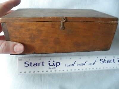 A Vintage Hand Made, Hinged, Wooden Box, Hook Fasten
