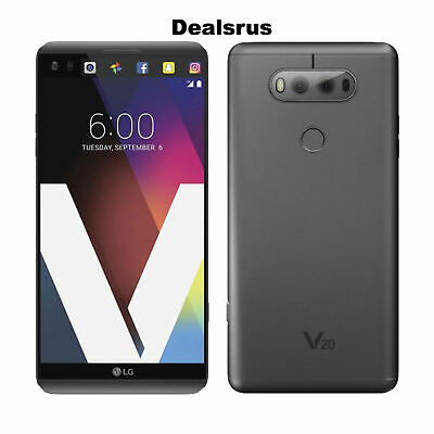 UNLOCKED - LG V20 H918 T-Mobile 64GB Titan Gray Android 4G LTE Dual Camera A+