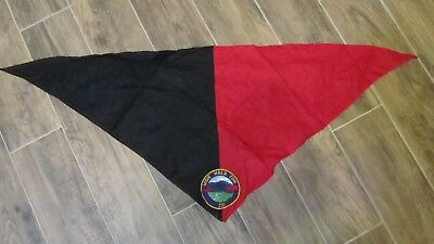 Boy Scouts OA Neckerchief, Scarf Red & Black With Wisie Hal'a Con 351 Patch