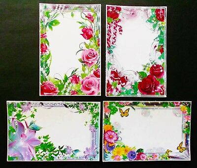 Stunning Printed Mixed Floral Frame Card Front Toppers For Mother's Day X 4