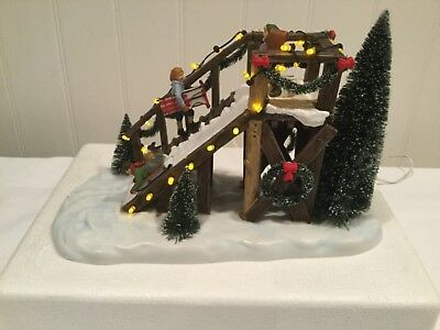 Dept 56 Christmas City Sledding AC/DC Adapter Included Great Condition