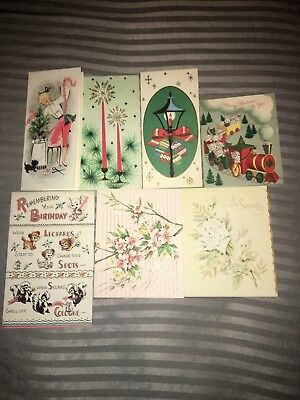 Variety Christmas/Get Well Cards Norcross & A Luaint Shop Orginial W/ Envelopes