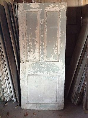 ANTIQUE DOOR NEW ENGLAND 18th CENTURY INTERIOR 3 RAISED PANEL DOOR