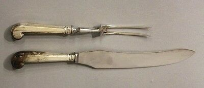 Sterling Silver Tiffany and Company Carving Set Knife and Fork