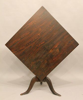 Early 19th Century Paint Decorated Square Tip Top Tea Table Country