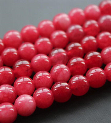 "1pcs red Chalcedony Gemstone Loose bead 15"" Natural  Handmade Stone Jewelry"