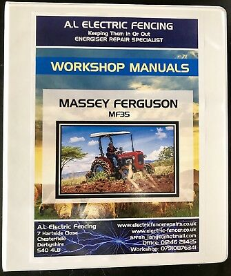 MASSEY FERGUSON MF35,WORKSHOP SERVICE REPAIR MANUAL,Free Postage,Fully Printed
