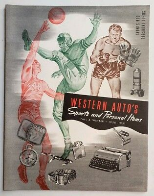 Vintage 1950 Western Auto Sporting Goods & Personal Items Catalog Mint!