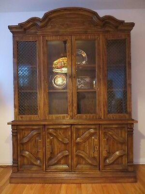 Vintage Singer Furniture Dining Room Hutch Solid Wood