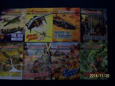 commando comics lot (4458-4465)