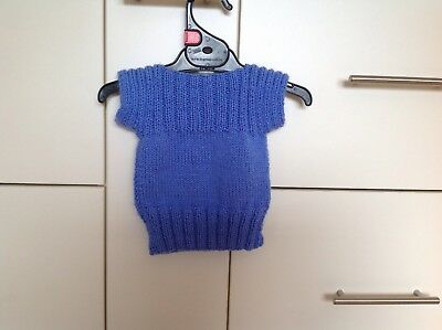 Hand Knitted Vest - Newborn to 6 months approx.