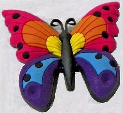 Large Butterfly Multi-color shoe charm NWT  jibbitz