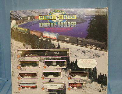 Bachmann N Scale Empire Builder Electric Train Set COMPLETE 24009 TESTED NICE!!