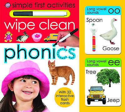 Simple First Activities: Wipe Clean Phonics by Roger Priddy (Board book)