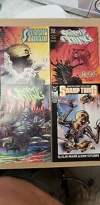 Swamp Thing #129, 128, 124, and 60. DC Comics (lot of 4) Nice!