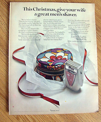 1968 Remington Lady-Go-Lightly Shaver Ad