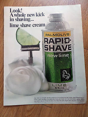 1967 Colgate-Palmolive Lime Shave Shaving Cream Ad