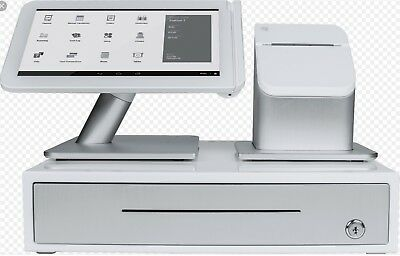 NEW Clover POS station with cash drawer, printer and pinpad