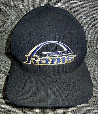 235123c429e9d3 Vtg 90s ST LOUIS RAMS Football Team NFL SNAPBACK HAT Baseball Cap Los  Angeles La