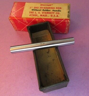 "STARRETT 234B-2  Measuring Rod 2"" Standard in Box; Machinist"