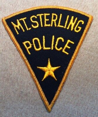 IL Mt. Sterling Illinois Police Patch