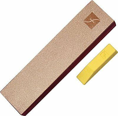 1 Ounce Bar Of Gold Polishing Compound Knife Strop Sharpener 8 X 2 Inch Leather