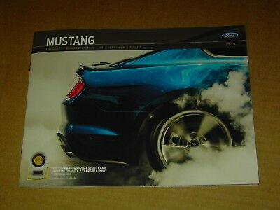 2019 Ford Mustang Brochure Mint! 40 Pages Ecoboost Gt California Special Bullitt
