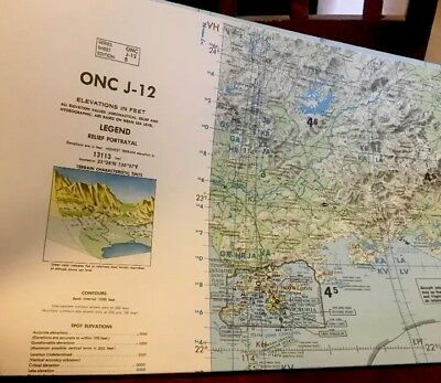 ONC J-12 Operational Navigation Chart 1988