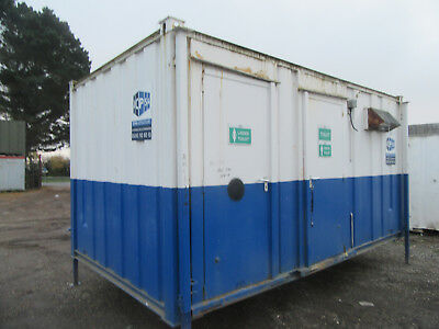 16ft x 9ft ANTI VANDAL TOILET BLOCK 3+2 SO 3 MALE & 1 FEMALE TOILETS £1750 + VAT