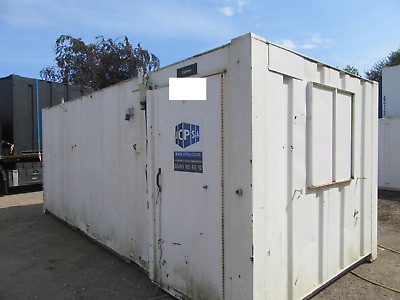 20ft x 9ft SITE CANTEEN OFFICE PORTABLE BUILDING ANTI VANDAL 1750 + VAT OFFER