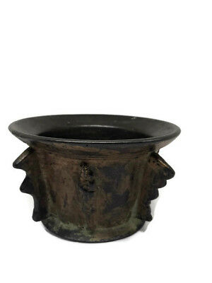 Antique Mortar Incense Bronze Crusaders Medieval Mother God Sprituality Church