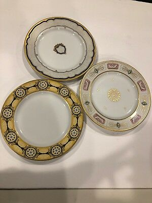 3 White House Collection Historic Presidential China Dessert Plates Woodmere