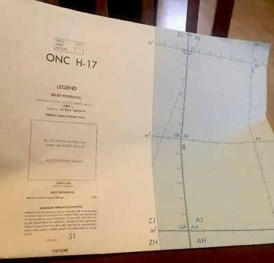 ONC H-17 Operational Navigation Chart 1974 Hawaiian Islands