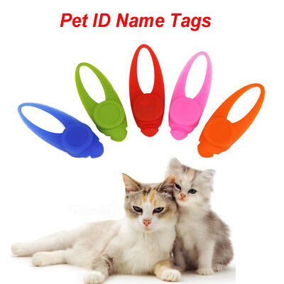Silicone Lighting Pets ID Name Address Tag Dog Cat Anti-Lost Card Collar Pendant