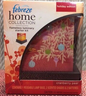 Febreze Home Collection GRANBERRY PEAR Flameless Luminary Staeter Kit