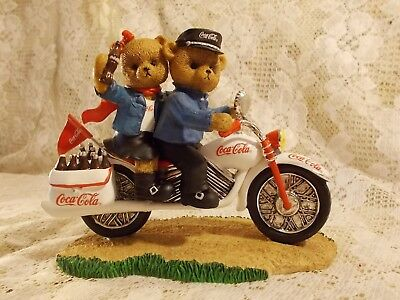 ON THE GO WITH COCA COLA COLLECTION Figurine White Motorcycle Tailpipes