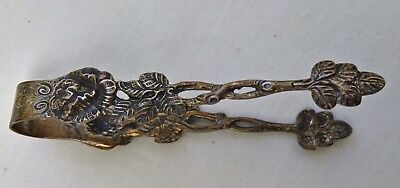 vintage solid brass sugar tongs collectables