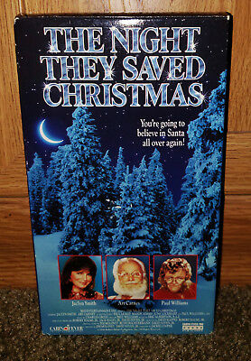 The Night They Saved Christmas VHS  Jaclyn Smith Art Carney Paul Williams
