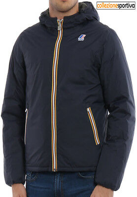 GIUBBOTTO UOMO K-WAY JACQUES THERMO PLUS DOUBLE- K001K40-949 col.blue-black torb