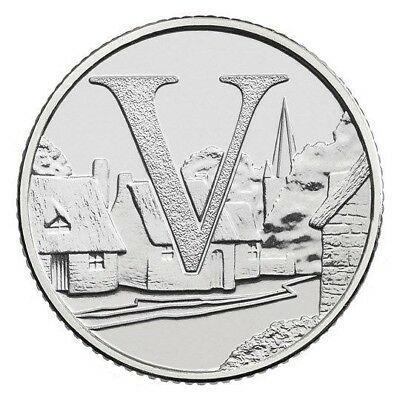 2018 Letter V 10p Coin - VILLAGES - Great British Coin Hunt - Royal Mint