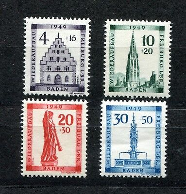 Germany French Occupation Zone Baden 1949 Reconstruction 5Nb5-5Nb8 Perfect Mnh