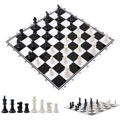 Plastic International Competition Chess Pieces with Chess Board Set Game Toy L9